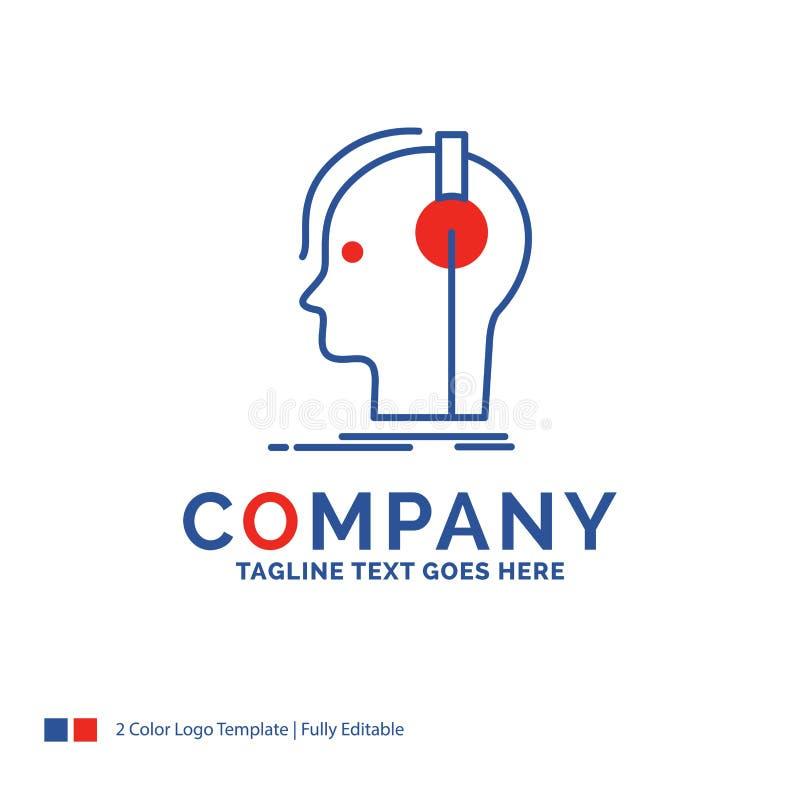 Logo Design For för företagsnamn kompositör, hörlurar, musiker som är pro- vektor illustrationer