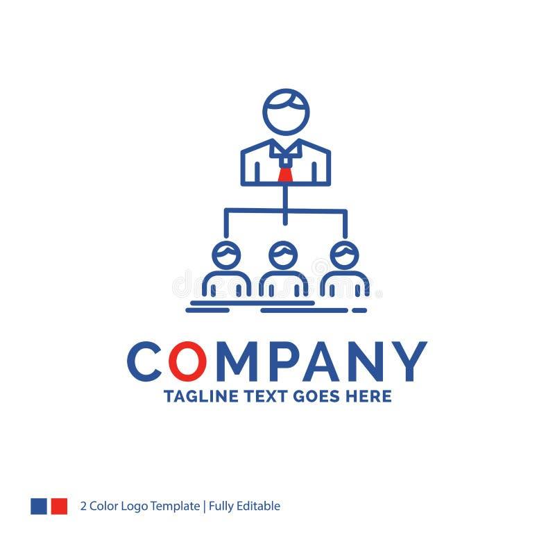 Logo Design For för företagsnamn lag, teamwork, organisation, grupp vektor illustrationer