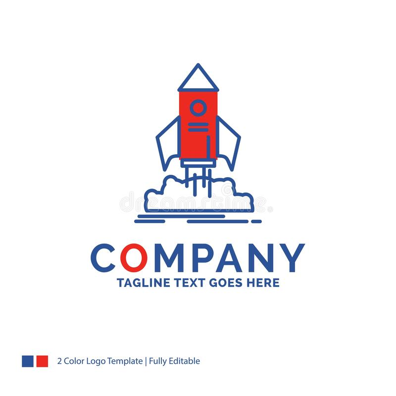 Logo Design For för företagsnamn lansering, start, skepp, anslutning, mis stock illustrationer