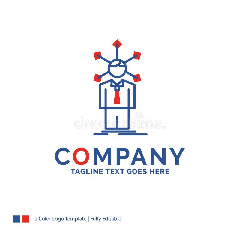 Logo Design For för företagsnamn som utveckling är mänsklig, nätverk, person vektor illustrationer