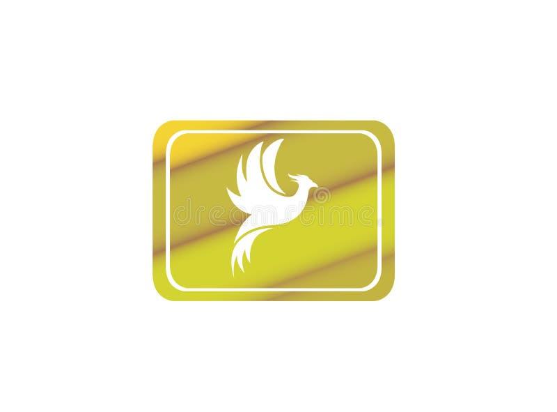 Logo Design för vingar för för Phoenix flygfågel och örn öppen illustration i formen royaltyfri illustrationer