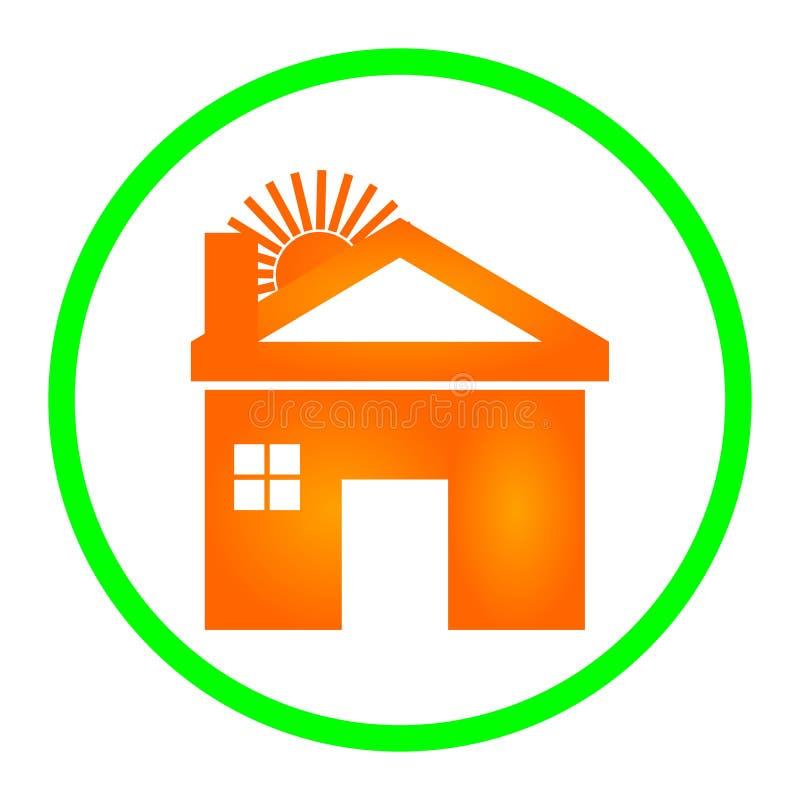 Logo Design Illustration à la maison avec le fond blanc illustration de vecteur
