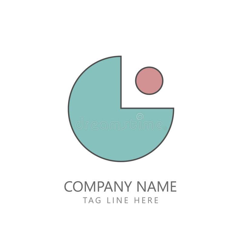Logo Design Minimalism Concept Minimalist liso ilustração do vetor