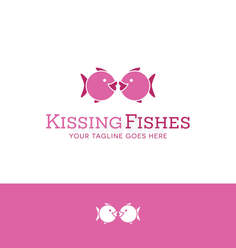 Free Logo Design Of 2 Iconic Fishes Kissing Royalty Free Stock Photos - 62618718