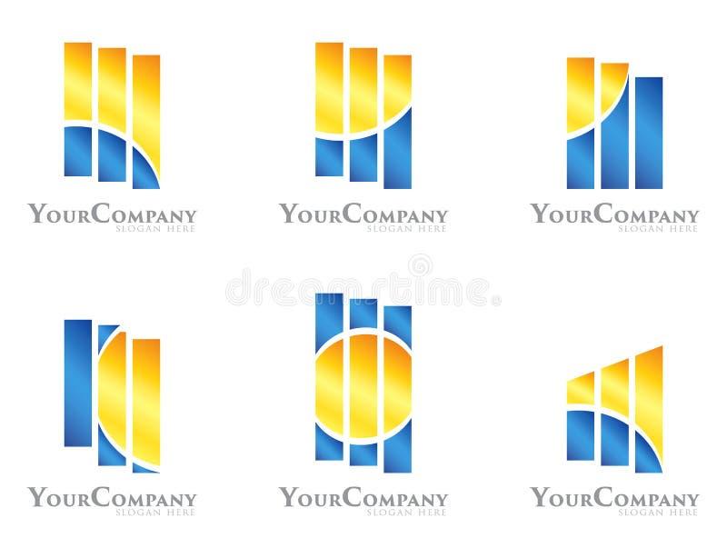 Logo design pack royalty free illustration