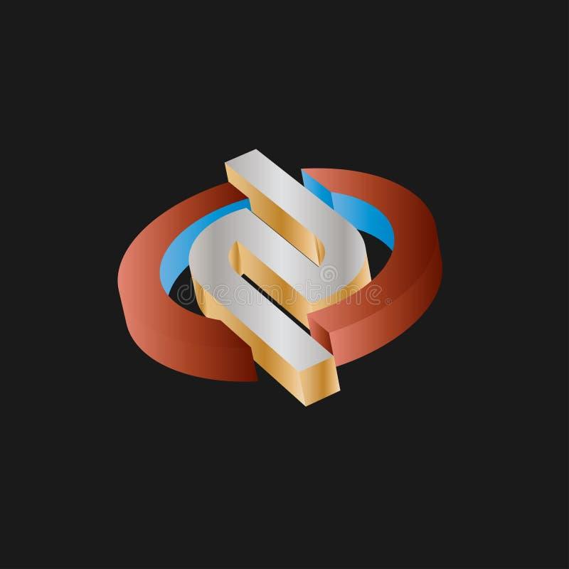Logo Design para o mercado do projeto de negócio ilustração stock