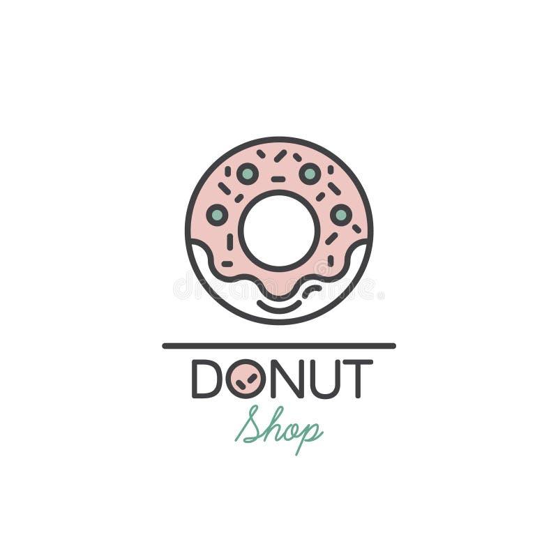 Logo Design para produtos frescos da padaria ilustração royalty free