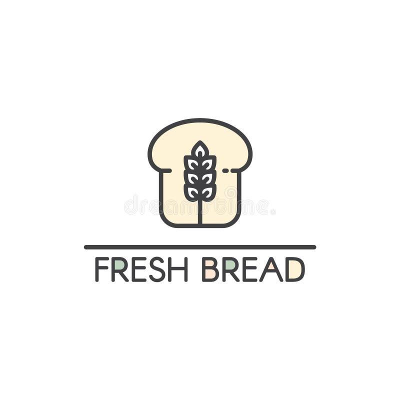 Logo Design para produtos frescos da padaria ilustração stock