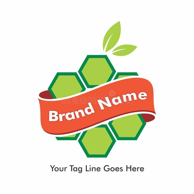 Logo Design per Honey Products organico illustrazione vettoriale