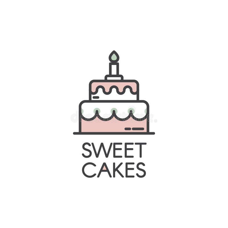 Logo Design pour les produits frais de boulangerie illustration stock