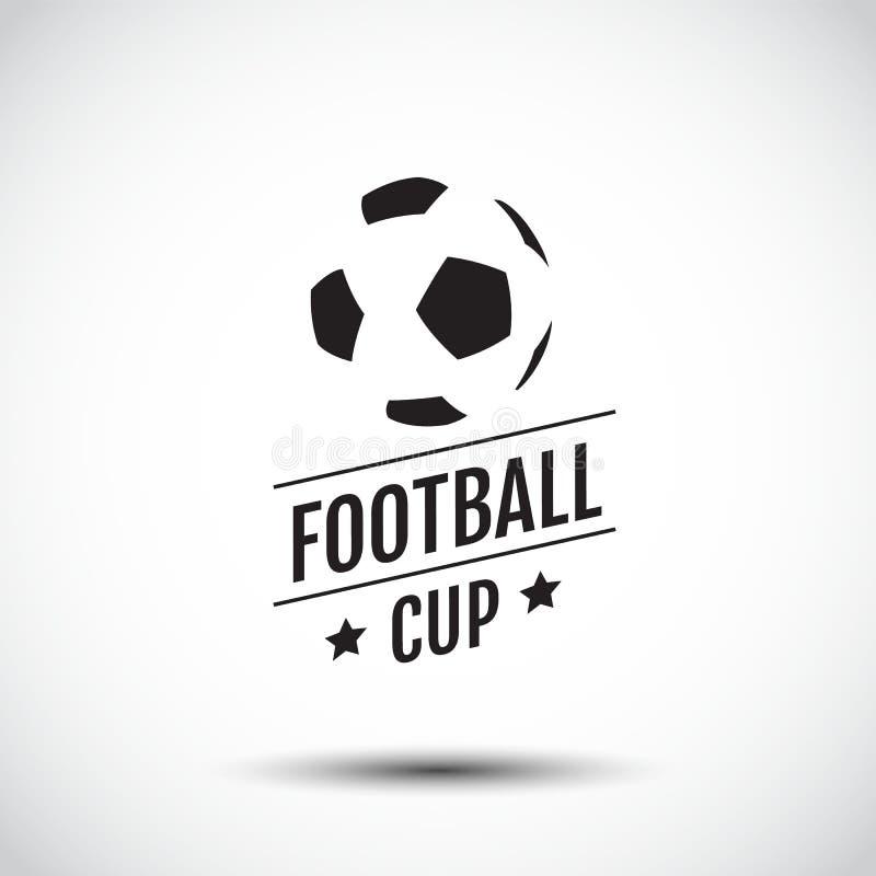 logo Design, symbolic, Flat Design, Graphic Illustration, Football, Soccer, Vector Illustration. royalty free illustration