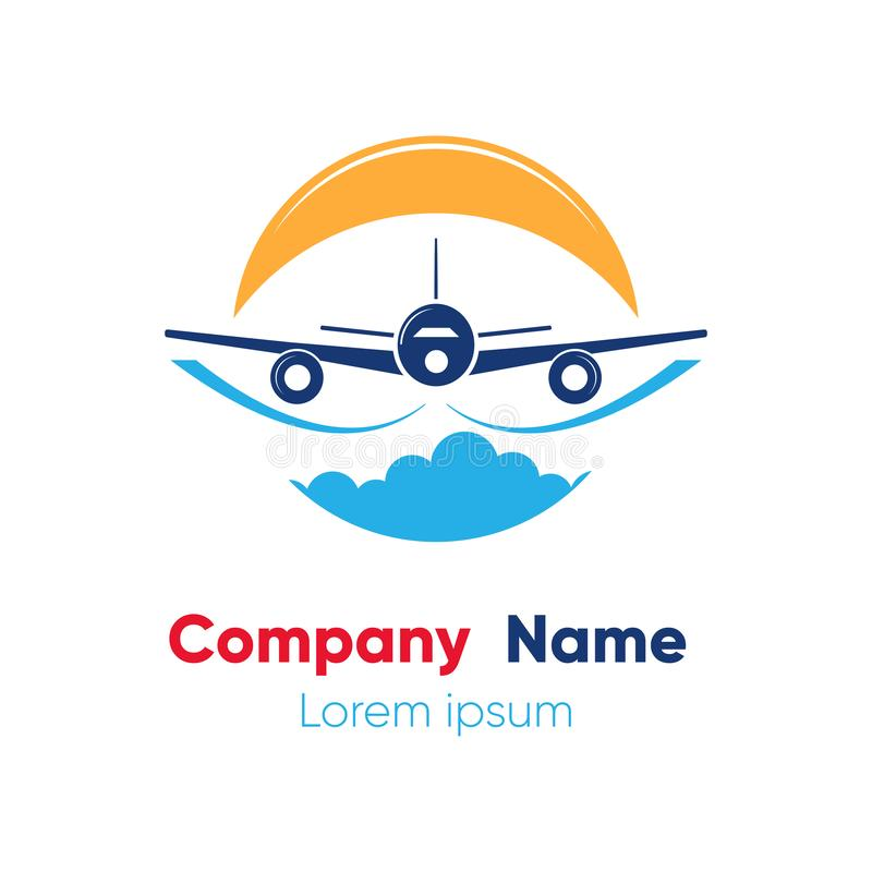 Logo design template for abstract airlines, airplane tickets, travel agencies. Vector illustration. royalty free stock image
