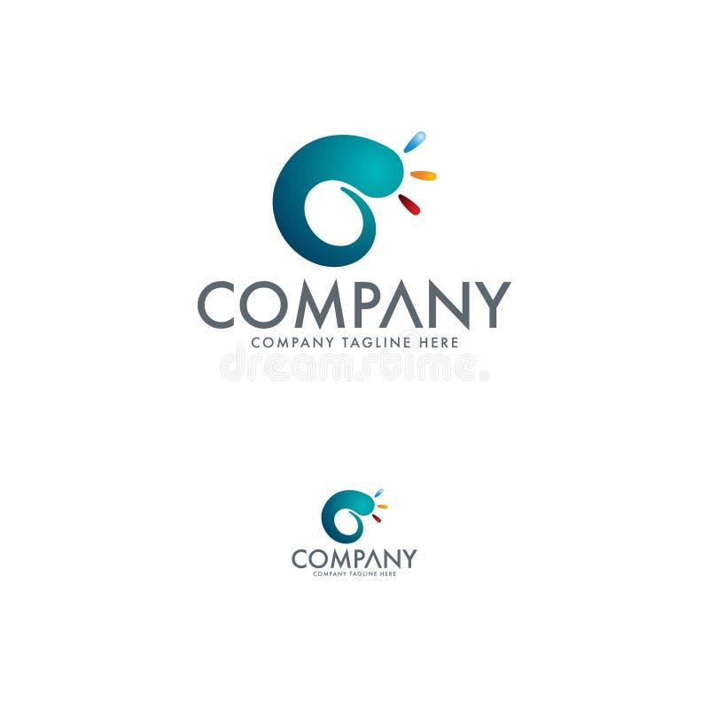 Logo Design Template de iluminação luxuoso ilustração stock