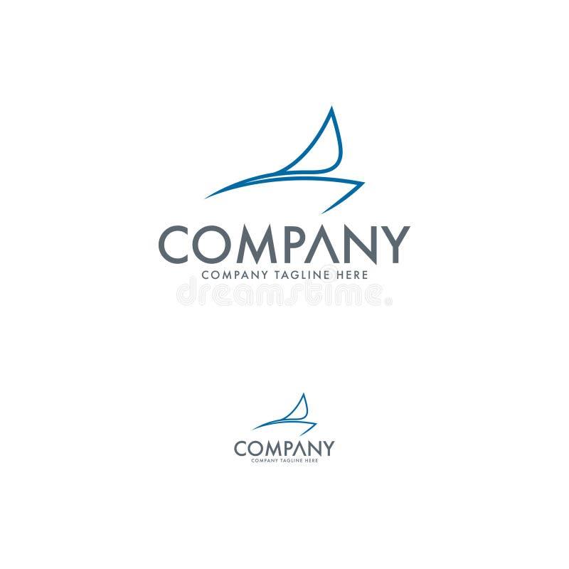 Logo Design Template de plaisance moderne illustration libre de droits