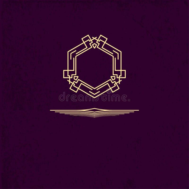Logo Design Template simple Elemento del logotipo Muestra elegante para el café, restaurante, heráldico, joyería, moda stock de ilustración