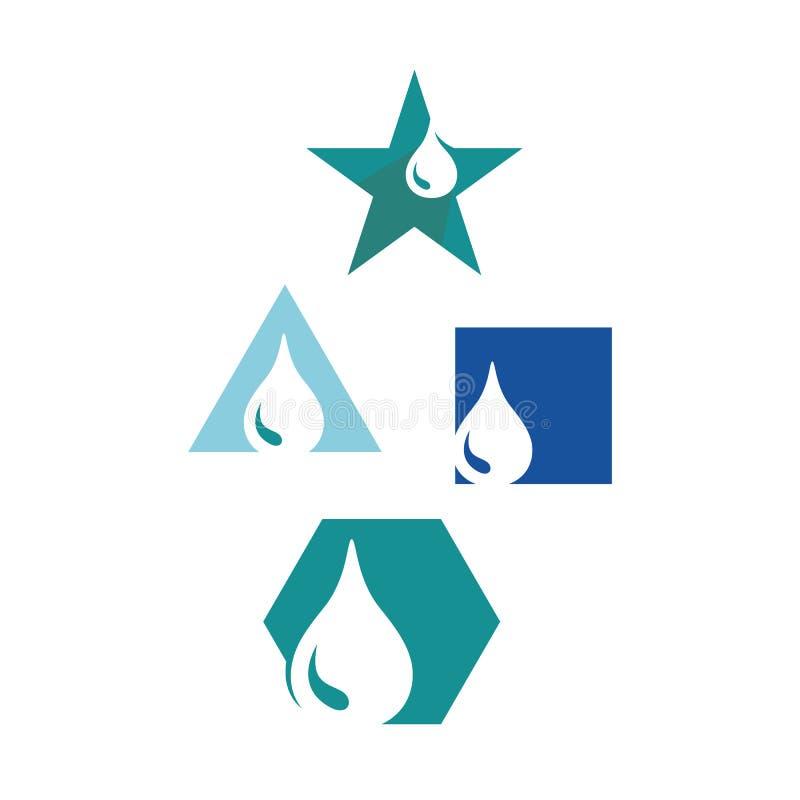 Logo-Design-Vektor-Symbol für Ölwasser-Tröpfchen Symbol für ein Symbol für Flüssigkeitssymbol lizenzfreie abbildung
