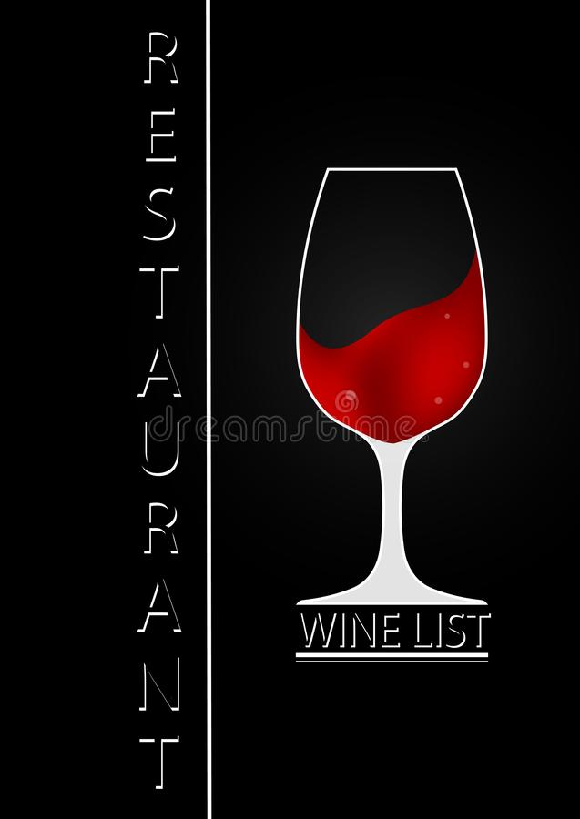 Logo design for wine list of a restaurant or bar vector illustration