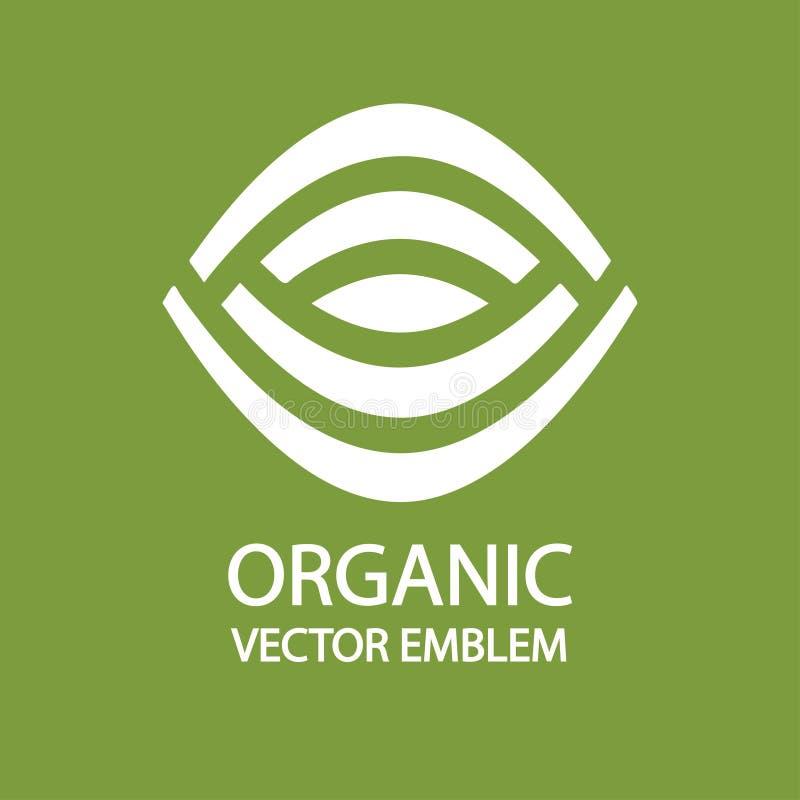 Logo-Designidee der biologischen Landwirtschaft vektor abbildung