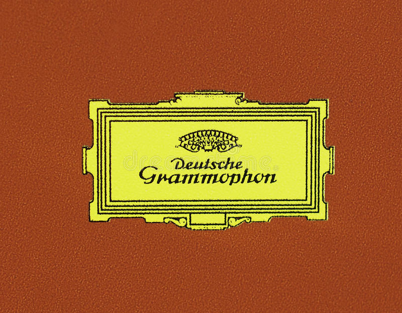 Logo of Deutsche Grammophon stock photography