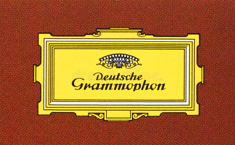 Logo of Deutsche Grammophon stock photo