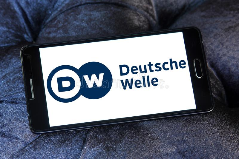 Deutsche Welle broadcaster logo stock photos