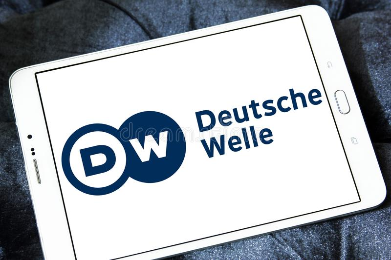 Deutsche Welle broadcaster logo royalty free stock photo