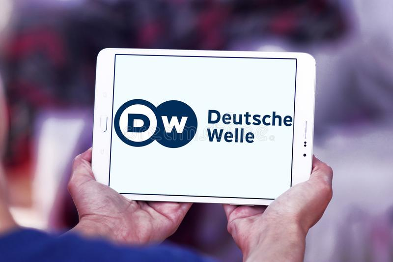 Deutsche Welle broadcaster logo stock image