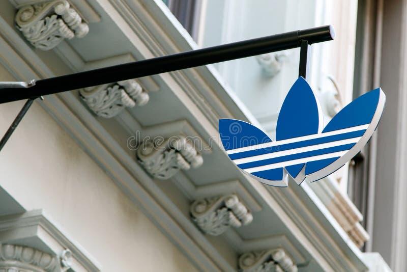 Logo di Adidas immagini stock libere da diritti