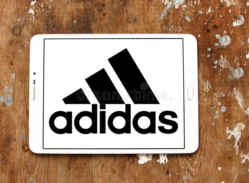 Logo di Adidas fotografie stock libere da diritti