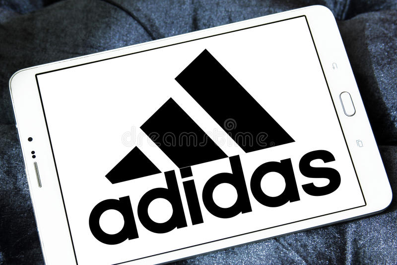 Logo di Adidas fotografia stock