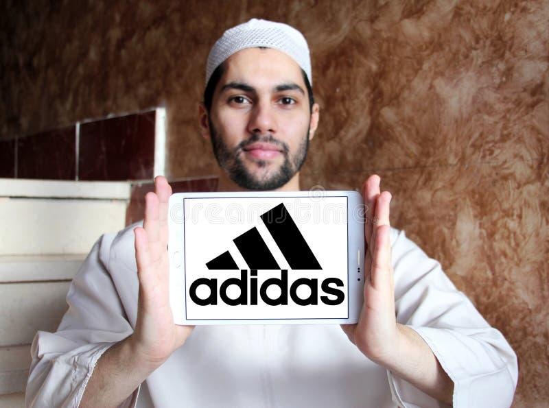 Logo di Adidas fotografie stock