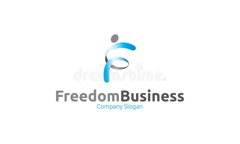 Logo di affari di libertà illustrazione di stock