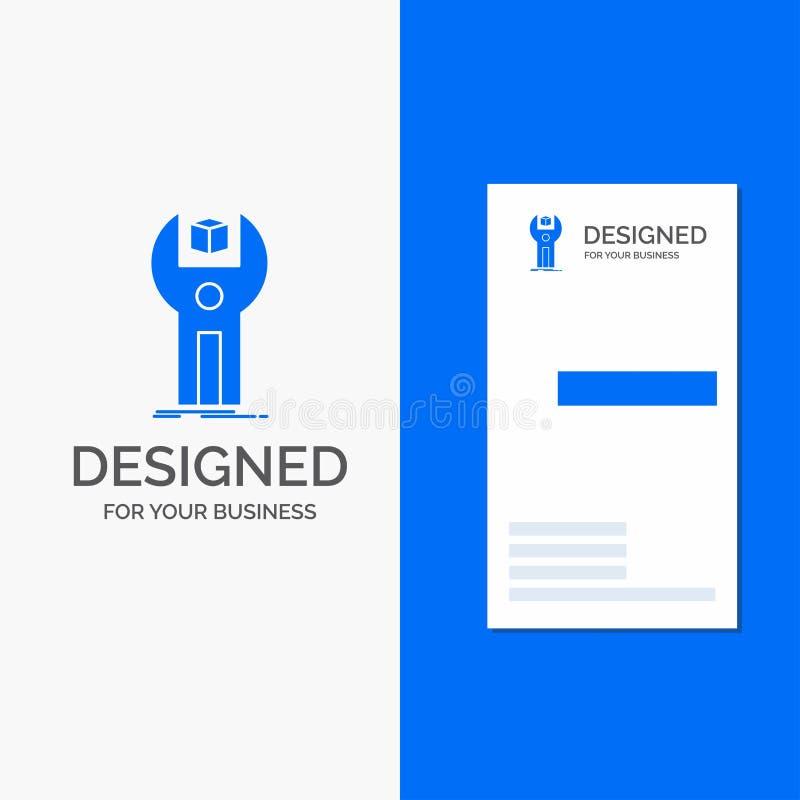 Logo di affari per SDK, App, sviluppo, corredo, programmante Modello biglietto da visita/di affari blu verticali royalty illustrazione gratis