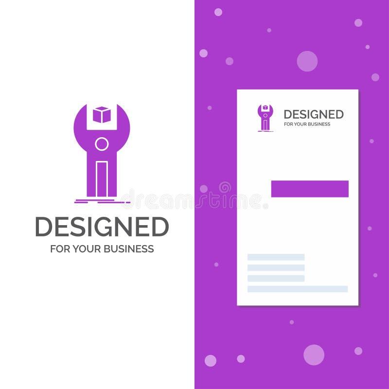 Logo di affari per SDK, App, sviluppo, corredo, programmante Modello biglietto da visita/di affari porpora verticali Priorit? bas royalty illustrazione gratis