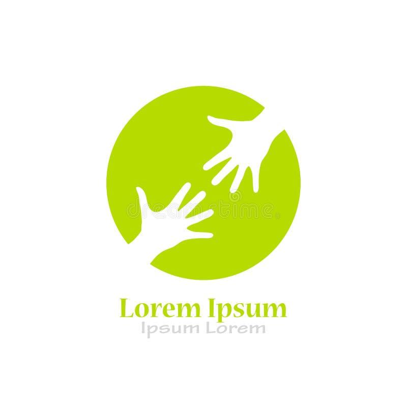 Logo di aiuto di carità illustrazione di stock