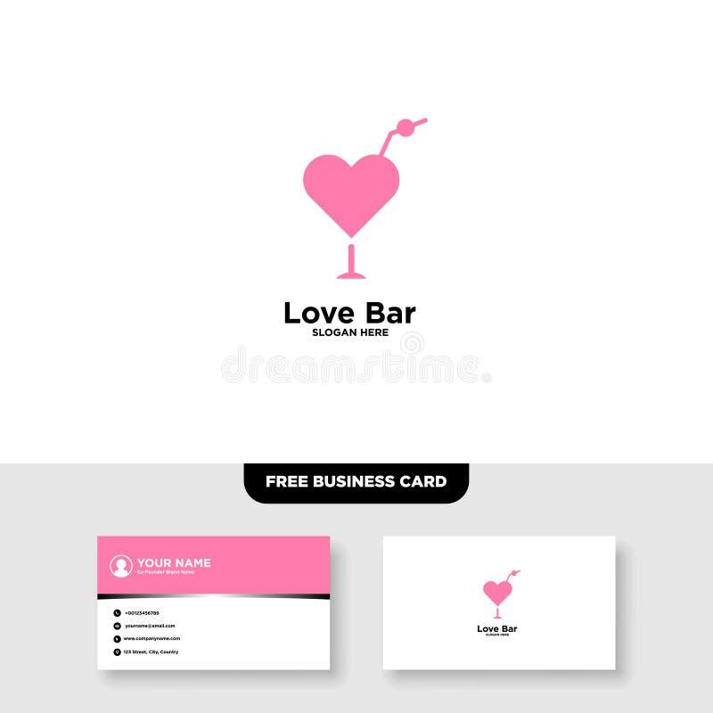 Logo di Antivari di amore, biglietto da visita libero - vettore illustrazione di stock