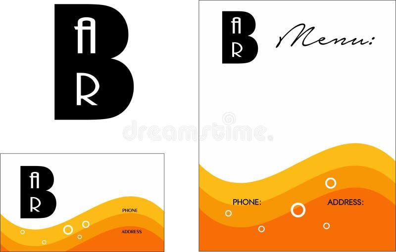 Logo di Antivari, biglietti da visita 2 x 3 5, aletta di filatoio 4 25 x 5 5 royalty illustrazione gratis