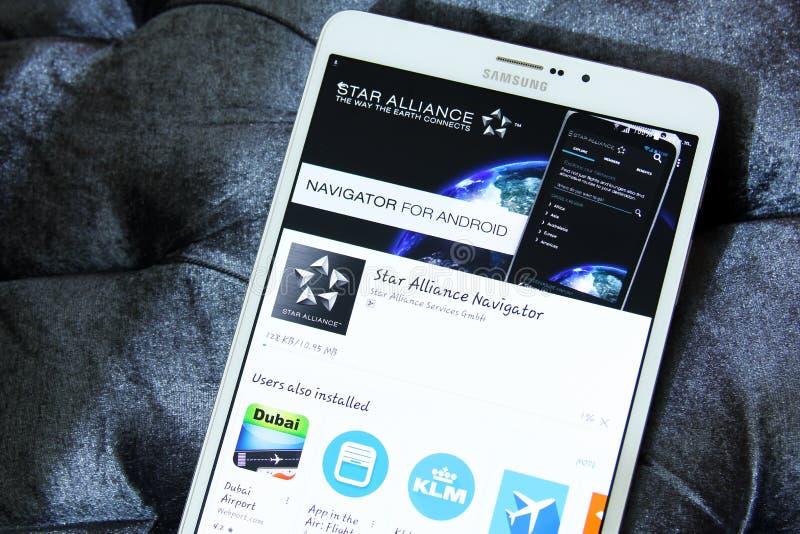 Logo di app di alleanza della stella fotografia stock