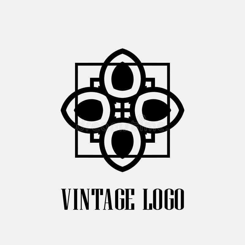 Logo di art deco illustrazione di stock