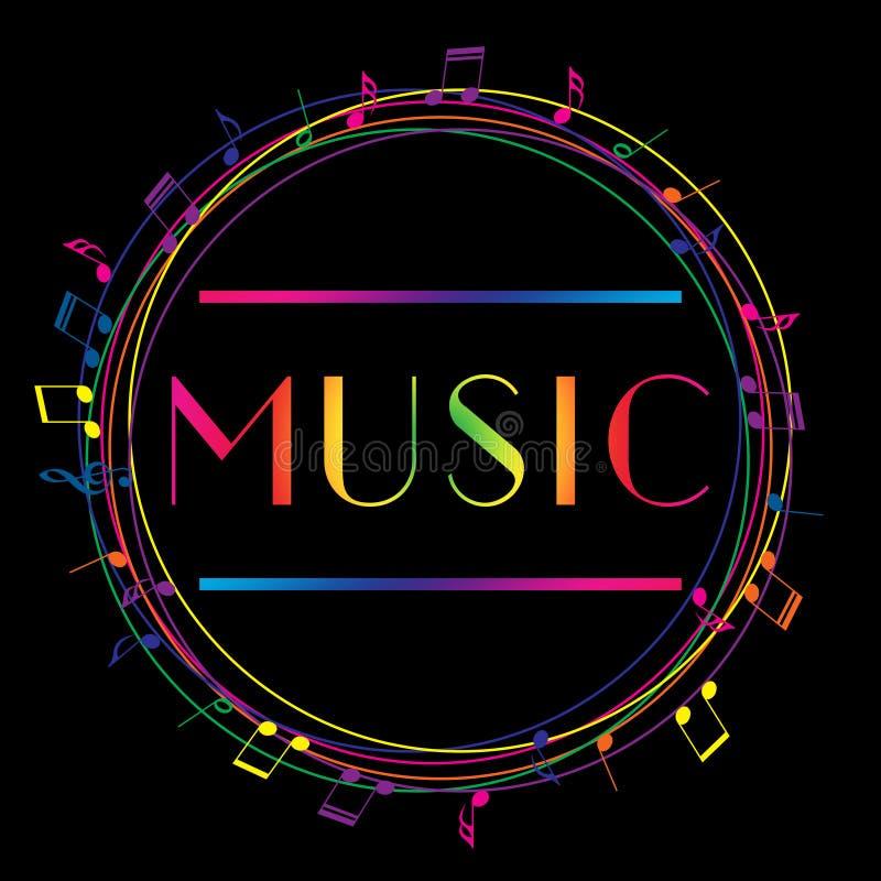Logo di arte di musica Musica grafica di stile della via Modo illustrazione di stock