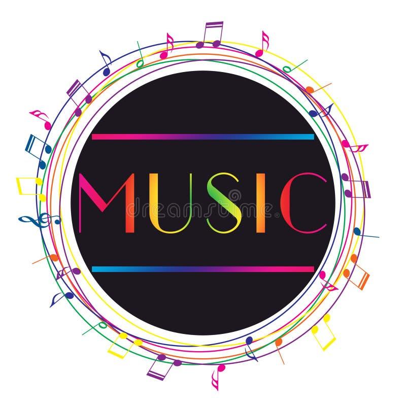 Logo di arte di musica Musica grafica di stile della via Stampa alla moda di modo royalty illustrazione gratis
