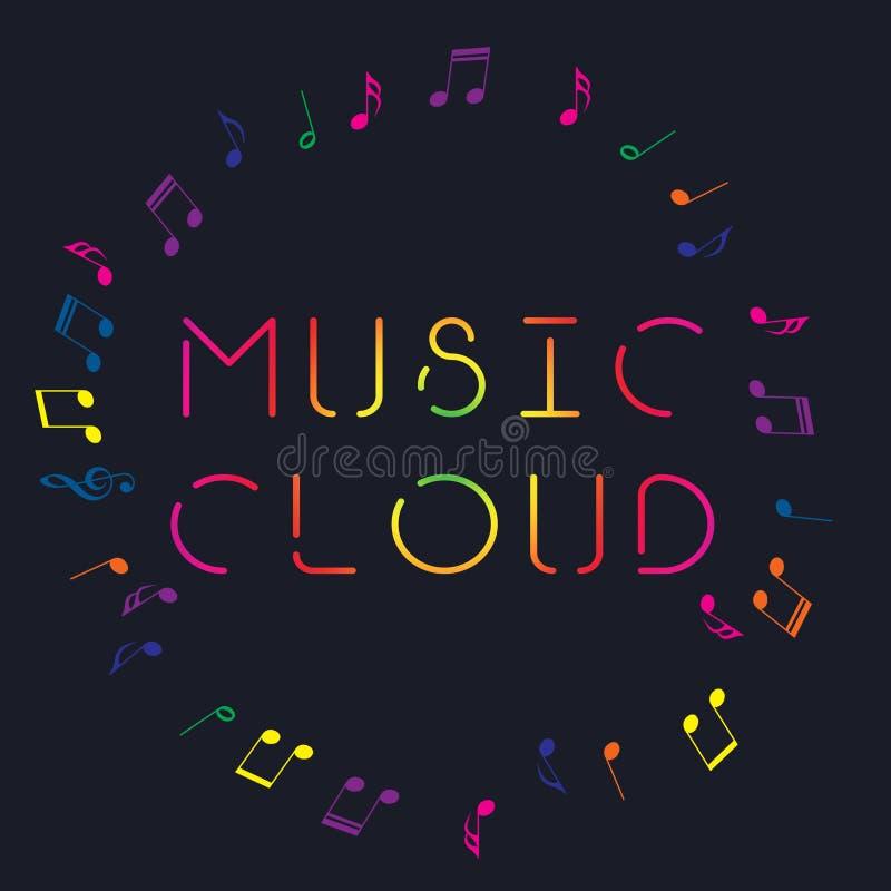 Logo di arte di musica Musica grafica di stile della via Stampa alla moda di modo Abito del modello, carta, etichetta, manifesto  illustrazione vettoriale