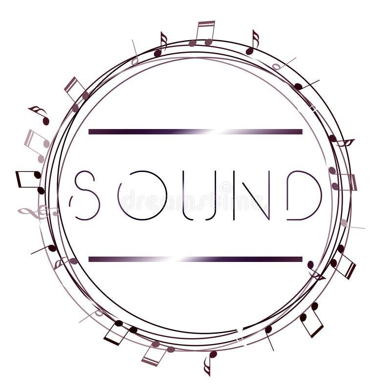 Logo di arte di musica Musica grafica di stile della via Stampa alla moda di modo Abito del modello, carta, etichetta, manifesto  illustrazione di stock
