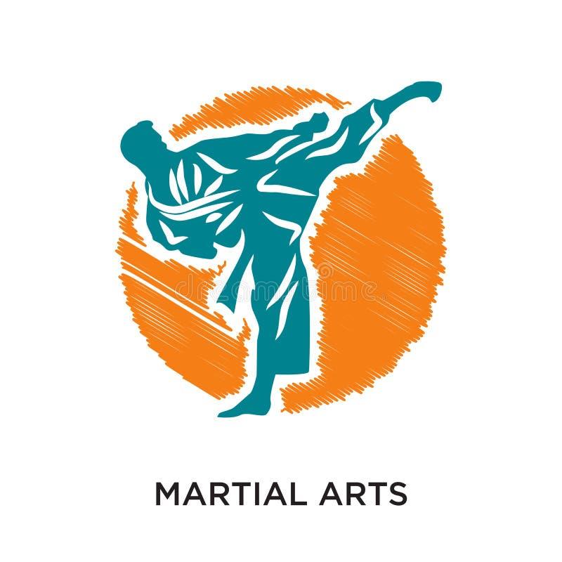 logo di arti marziali isolato su fondo bianco per il vostro web, calca fotografie stock