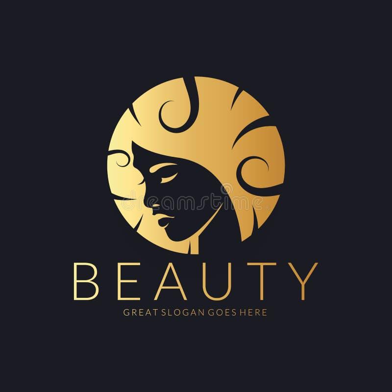 Logo di bellezza Un logo elegante per bellezza, modo e l'acconciatura ha collegato l'affare Facile cambiare colore, dimensione e  illustrazione di stock