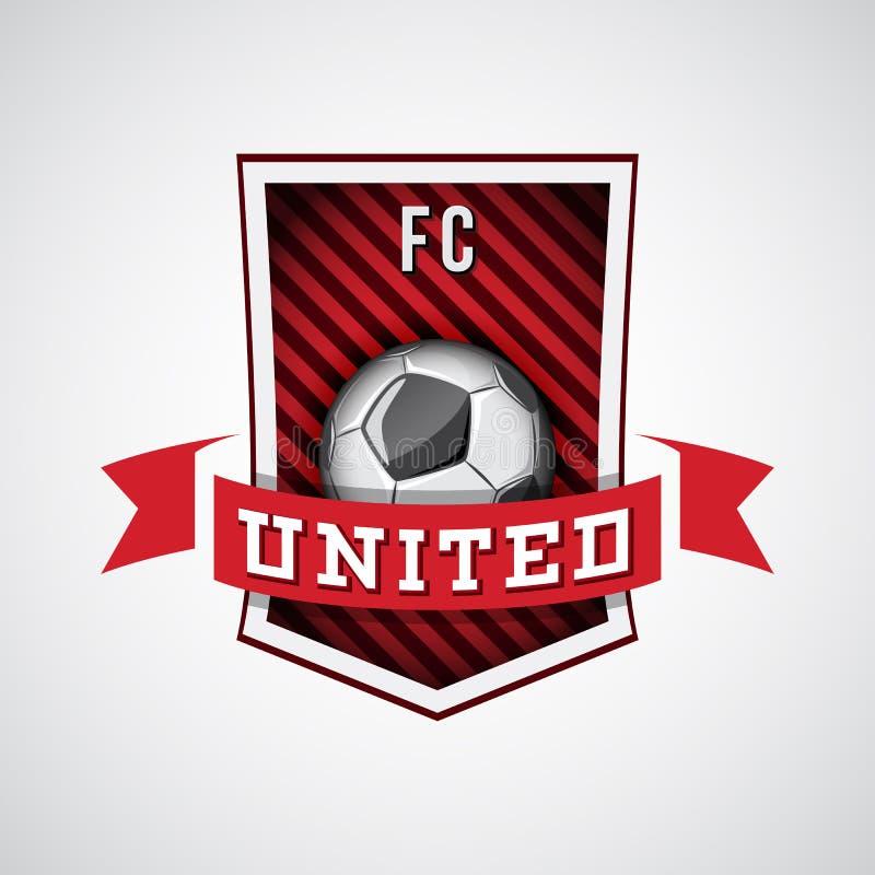 Logo di calcio, emblema di calcio illustrazione vettoriale