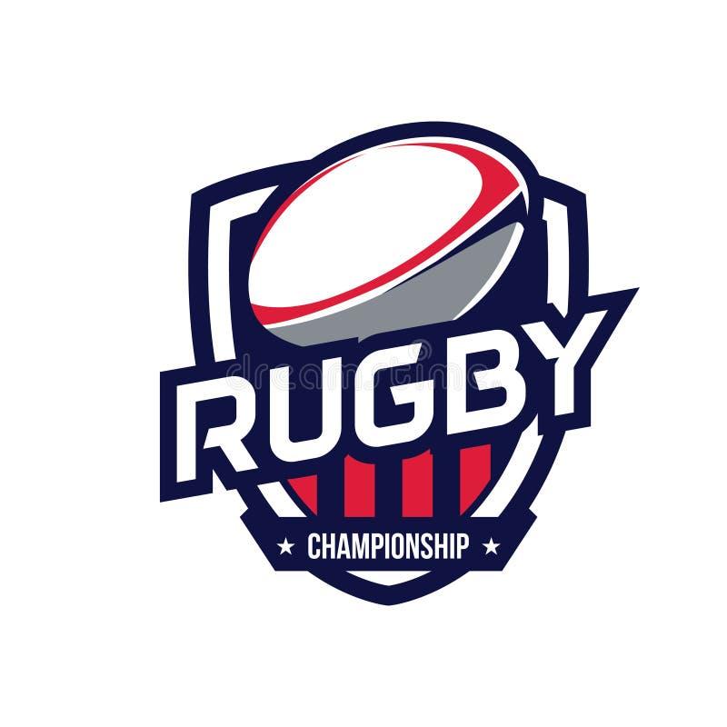 Logo di campionato di rugby fotografie stock