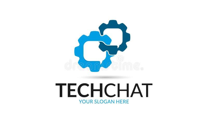 Logo di chiacchierata di tecnologia royalty illustrazione gratis
