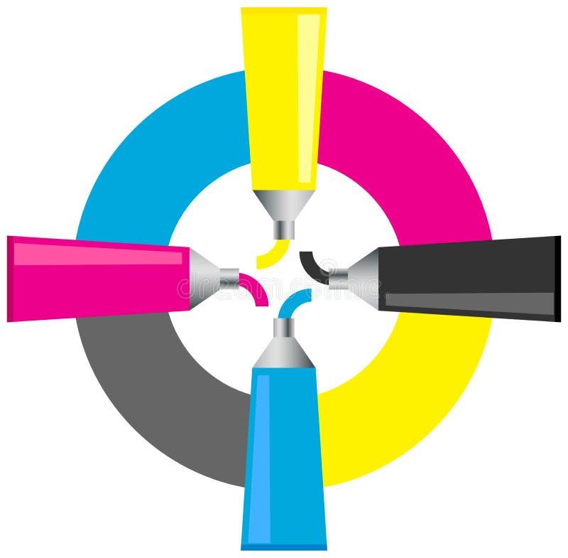 Logo di Cmyk illustrazione vettoriale