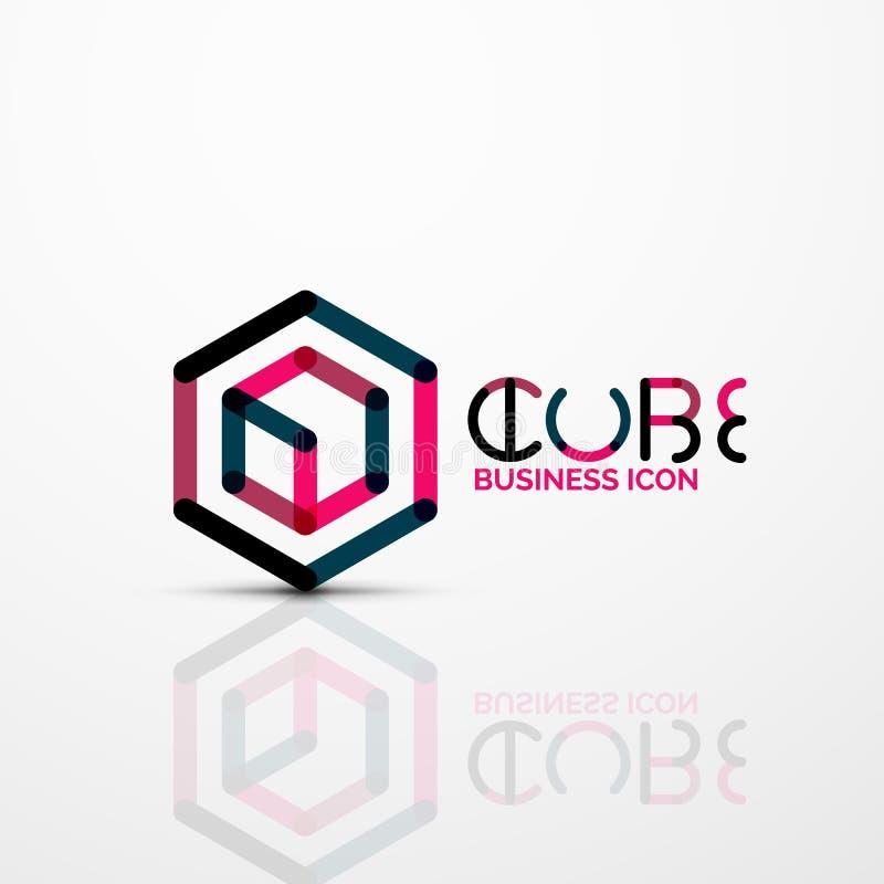 Logo di concetto di idea del cubo, linea royalty illustrazione gratis